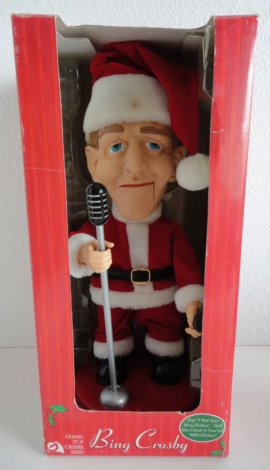 gemmy singing santa bing crosby animated figure box 2002 - Bing Crosby Christmas