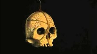 Hanging Bleeding Skull