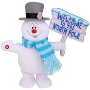 Side Stepper - Frosty with North Pole Sign