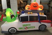 9ft Gemmy Airblown Inflatable Halloween Ghostbusters Slimer On Limo Prototype