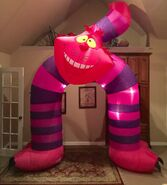 Gemmy Prototype Halloween Alice and Wonderland Archway Inflatable Airblown