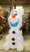 8ft Gemmy Airblown Inflatable Christmas Projection Snowflurry Olaf Prototype