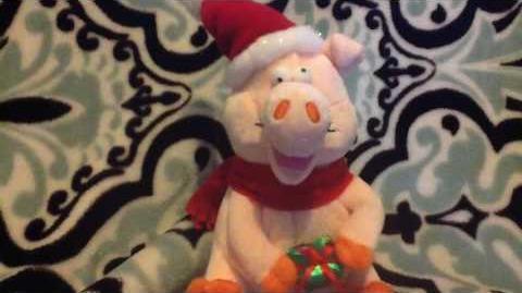 Gemmy Christmas pig