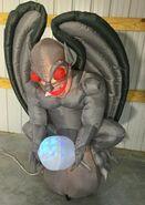 Gemmy Prototype Halloween Inflatable Gray Gargoyle