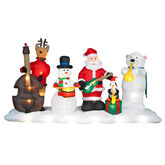 Gemmy inflatable light show santa and friends band