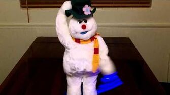 Frosty the Snowman (Gemmy Spinning Snowflake)