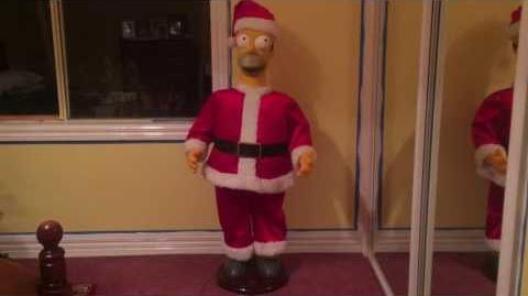 Gemmy Animated Life Size Christmas Homer Simpson