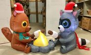 7ft Gemmy Airblown Inflatable Christmas Critter Campfire Scene Prototype