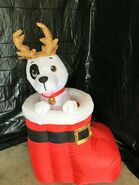 Gemmy Prototype Christmas Inflatable Dog In Boot 1