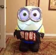 Gemmy Prototype Halloween BOO Banner Minion Inflatable Airblown