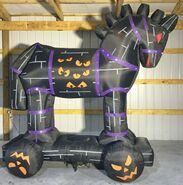 Gemmy Prototype Halloween Inflatable Wooden Horse