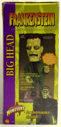 2001 Gemmy Industries Big Head Frankenstein 17'' Animated Figure Box