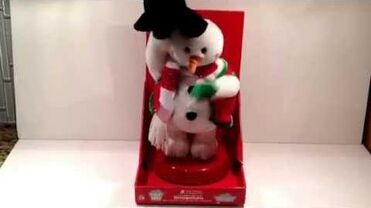2006 Gemmy Animated Spinning Snowflake Frosty Snowman Animated
