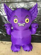 Gemmy Prototype Halloween Inflatable Purple Gargoyle