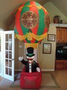 Gemmy inflatable Snowman in hot air balloon