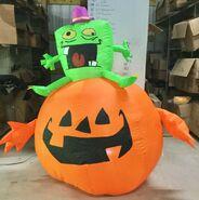 Gemmy Prototype Halloween Inflatable Monster On Pumpkin