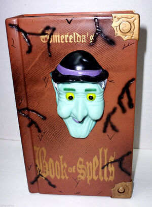 1996 Gemmy BOOK OF SPELLS ANIMATED TALKING WITCH HALLOWEEN DISPLAY PROP NEW 6