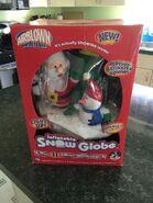 Gemmy Inflatable Christmas Musical Light Up Snow Globe Santa Snowman Tree