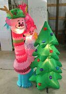 Gemmy Prototype Christmas Inflatable Trolls Poppy & Cooper