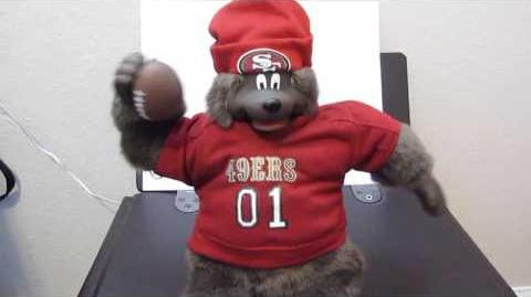 Gemmy san francisco 49ers quarterbear