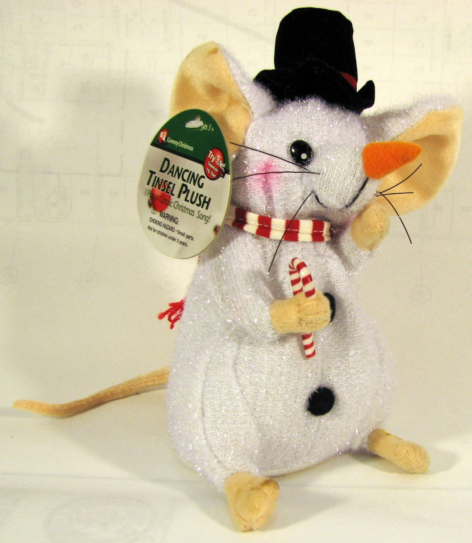 Image Dancing Christmas Mouse Tinsel Plush Jpg Gemmy Wiki