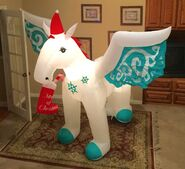Gemmy Prototype Christmas Pegasus Inflatable Airblown