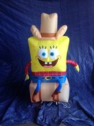 Gemmy inflatable cowboy spongebob