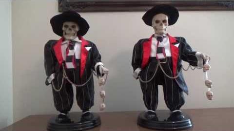 "Gemmy Halloween Animated ""Swingin' Skelly"" (Zoot Suit Skeleton) (1st & 2nd Generation)"
