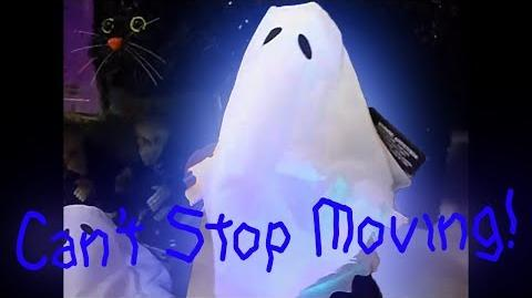 "GEMMY 2010 ""CAN'T STOP MOVING"" GRAVE RAVER GHOST FOOTAGE!"
