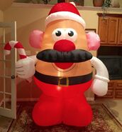 Gemmy Prototype Christmas Mr. Potato Head Inflatable Airblown