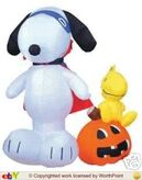 Gemmy inflatable snoopy and woodstock halloween