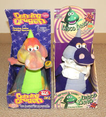 1998 Gemmy DISCO DINO & DANCING DRAGON Set in Box