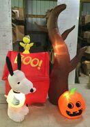 Gemmy Prototype Halloween Inflatable Peanuts Snoopy Scene
