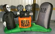 Gemmy Prototype Halloween Inflatable Reaper With Projector