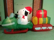 Gemmy inflatable snoopy in bobsled