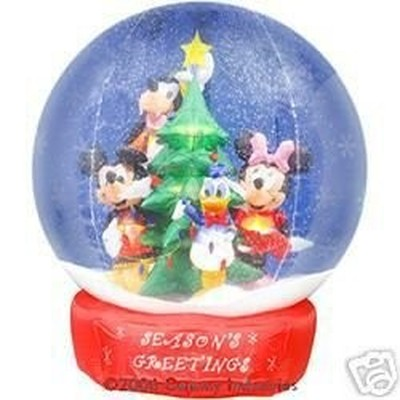 filemickey friends 7ft airblown inflatable snowglobejpg - Mickey Inflatable Christmas Decorations