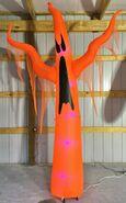 Gemmy Prototype Halloween Inflatable Orange Ghost