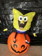 Gemmy Prototype Halloween Inflatable Spongebob as Vampire