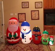 Gemmy Prototype Christmas Nesting Dolls Scene Inflatable Airblown