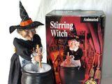 Animated Stirring Witch