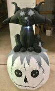 Gemmy Prototype Halloween Inflatable Lifeless Cat On Pumpkin