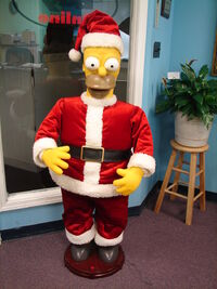 Gemmy 50'' Tall Animated Singing Santa Claus Homer Simpson