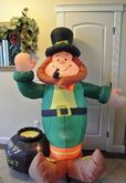 GEMMY Airblown Inflatable St Patricks Day Leprechaun 6 Ft RARE