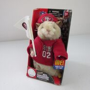 NFL SAN FRANCISCO 49ERS CHEERING HAMSTER 2002 SINGS WE ARE THE CHAMPIONS