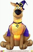 Gemmy inflatable scooby doo witch