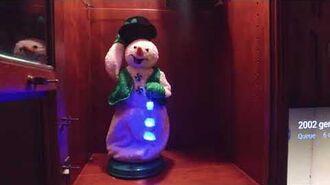 Green peppermint snowman demo