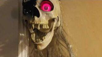 Gemmy Dropping Pirate Skull