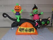 Gemmy PROTOTYPE Airblown Inflatable Halloween Cat Teeter Totter