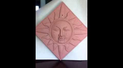 Animated musical Sun plaque