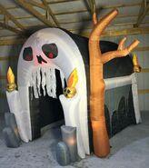 Gemmy Prototype Halloween Inflatable Skull Tunnel